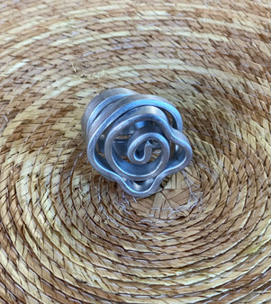 Tribal Aluminum Rose Ring