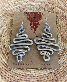 Waves Aluminum Earrings