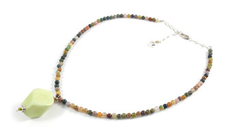 Necklace Semiprecious Stone and Pendant