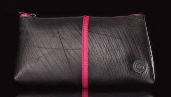 Recycled Tire Tube Cosmetic Bag - Pink