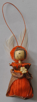 Novelty Ornaments - Corn Husk Smile Angel