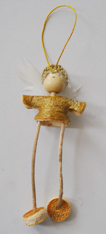Novelty Ornaments - Hanging Orange Peel Angel - Gold