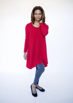 Pima Cotton Tunic - Red