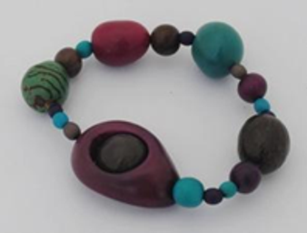 Natures Graffiti Circles in Circles Bracelet - Winter Cool