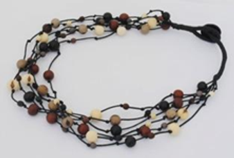 Summer Fireworks 5-Strand Acai and Chirilla Necklace - Winter Elegant