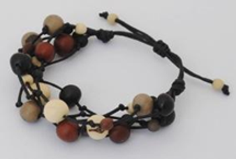 Summer Fireworks 5-Strand Acai and Chirilla Bracelet - Winter Elegant