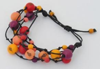 Summer Fireworks 5-Strand Acai and Chirilla Bracelet - Winter Warm