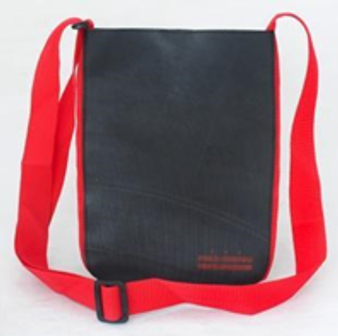 Recycled Tire Tube Perfect for iPad Bag  - Red DC Flag