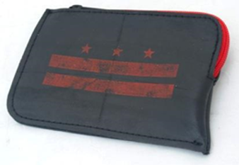 Perno Coin Purse - Red DC Flag  SilkScreen