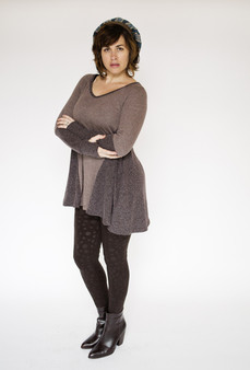 Cassandra Solid Tunic - Brown