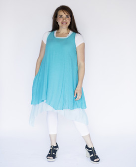 Wabi Sabi Dress - Aqua Blue