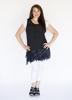 Asymmetrical 2PC Dress - Black