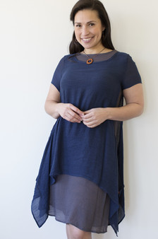 Sunday Morning Dress - Navy