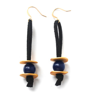 Meteor Shower Earrings – Navy