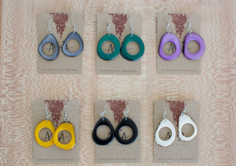 Tagua Doughnut Earrings - Clearance Colors
