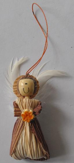 Novelty Ornaments - Corn Husk Friendship Angel