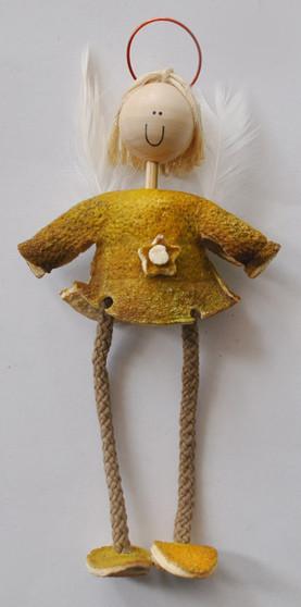 Novelty Ornaments - Orange Peel Wisdom Angel