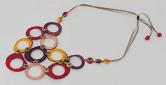 Larged Linked In Necklace - Winter Warm