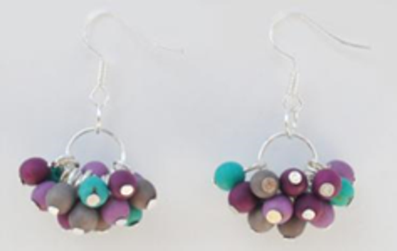 Chirilla Cluster Earrings -  Winter Cool