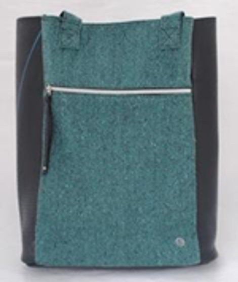 Recycled Canvas and TT Tote Bag -  Dark Green