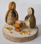 Novelty Ornaments - Nativity Tagua Nut and Orange Peel