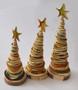 Novelty Ornaments - Orange Peel Christmas trees