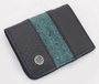 Recycled Canvas and Tire Tube Men's Wallet - Dark Green