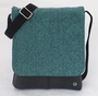 Recycled Canvas and Recycled TT Crossbody Bag - Dark Green