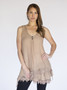 Asymmetrical 2PC Dress - Mocha