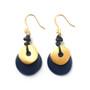 Moon Eclipse Earrings – Navy