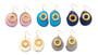 Solar Eclipse Earrings –Blue