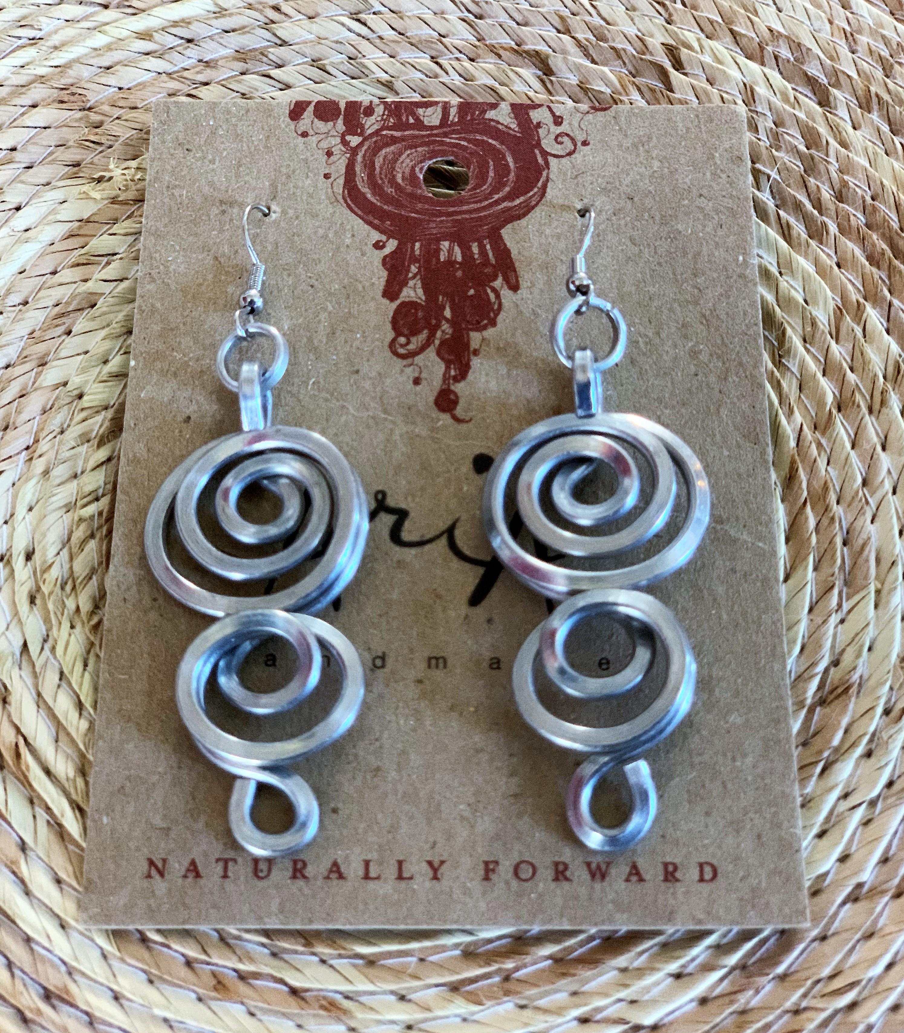 Crop Circle Aluminum Earrings