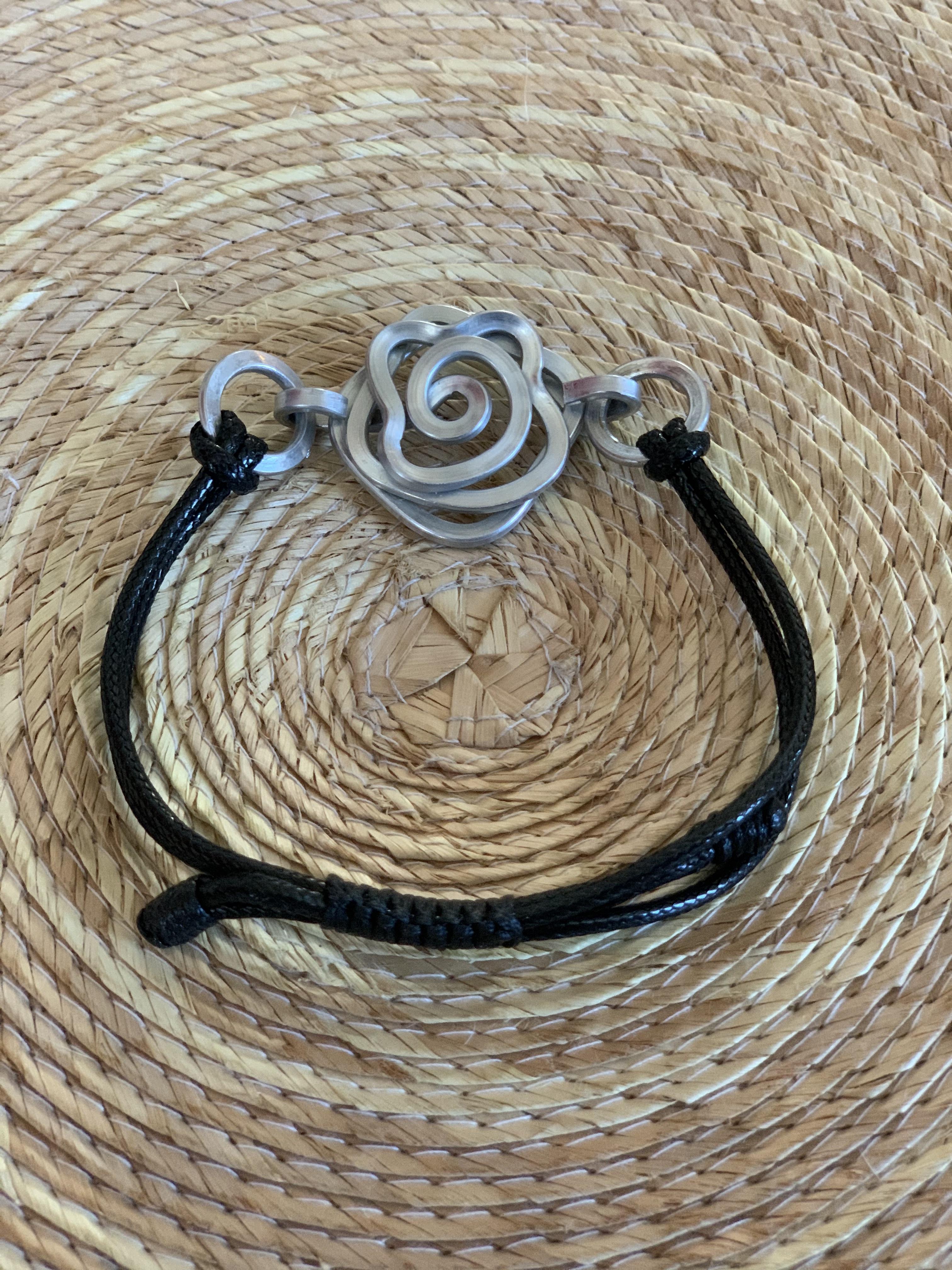 Tribal Aluminum Rose Bracelet