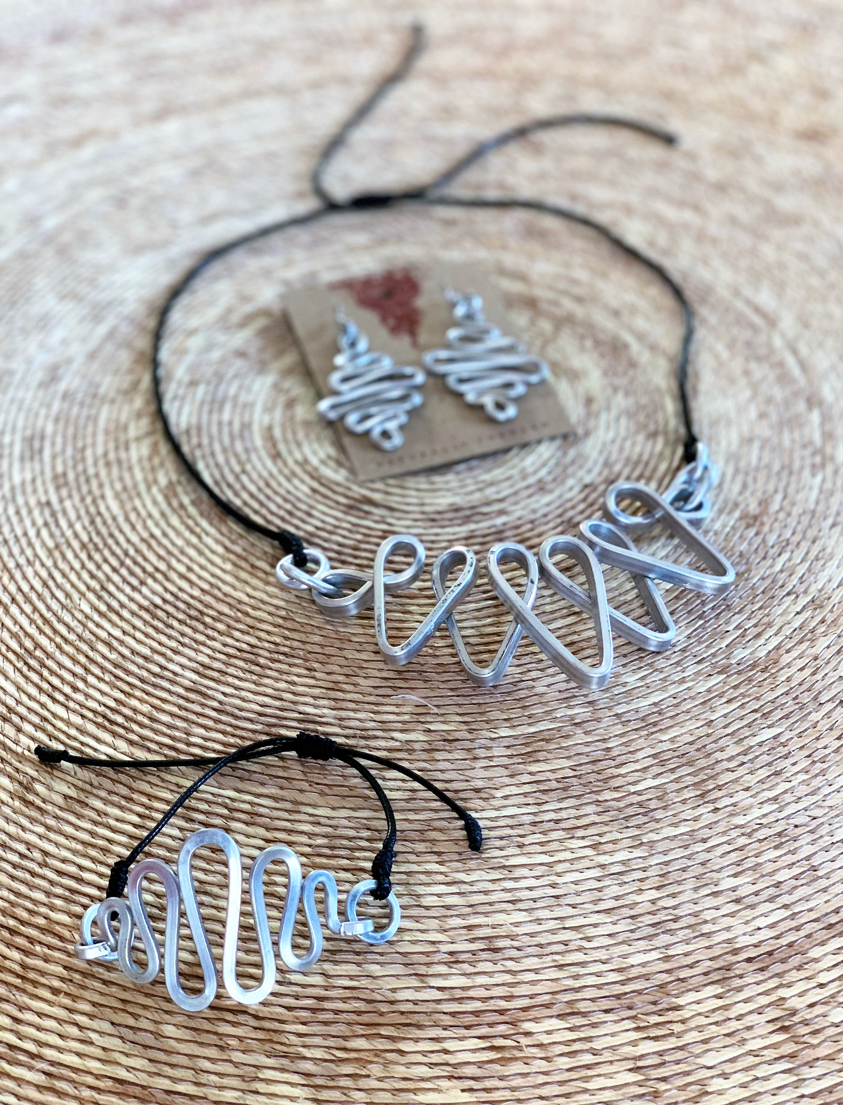 Waves Aluminum Necklace