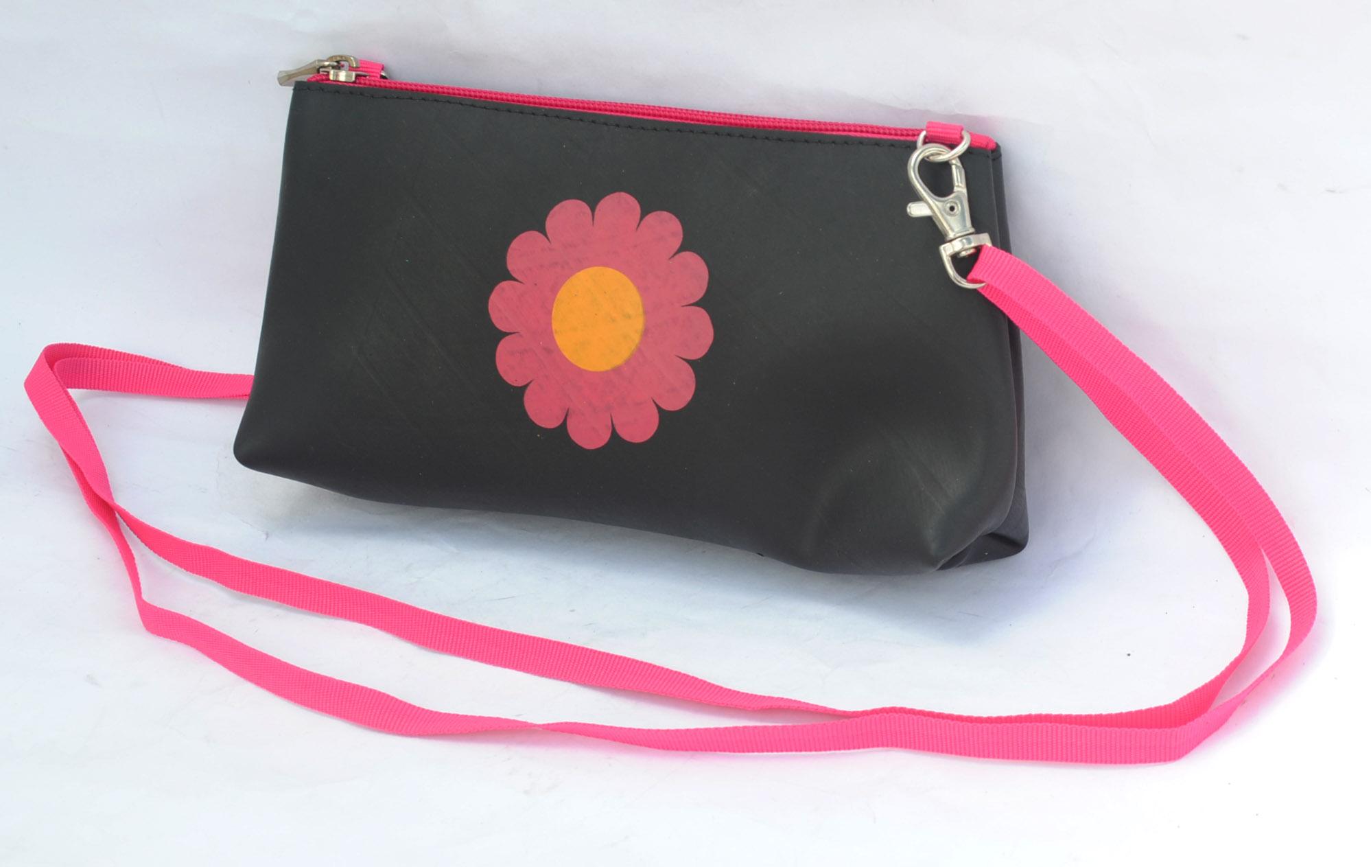 Cross body Bag with Flower
