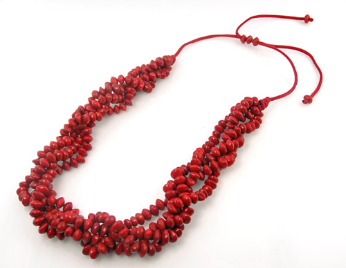 Red Chocho Seed necklace