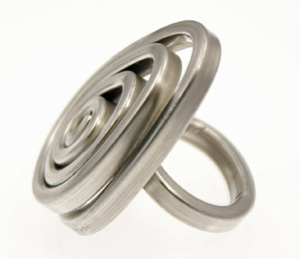 Recycled Aluminum Ring - Oval