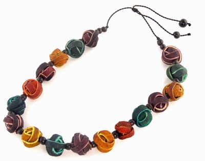 Orange Peel Necklace - Multi-Color Spheres