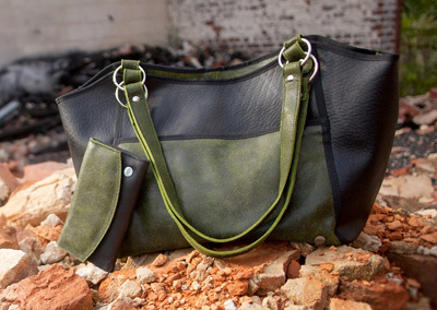 Urban Fossil Collection - Recycled Tire Tube Purse - Green