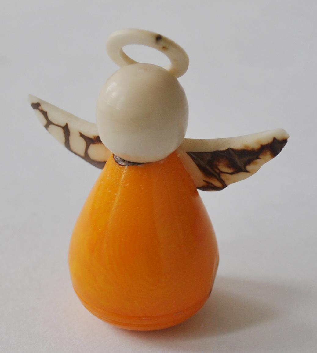 Novelty Ornaments -Yellow Tagua Nut Angel