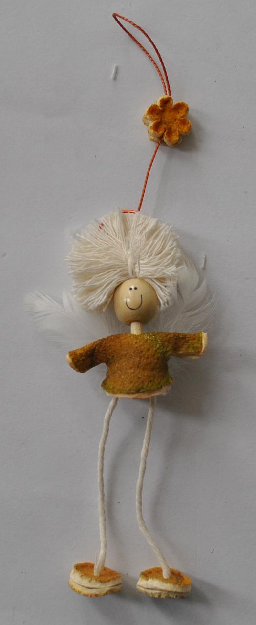 Novelty Ornaments - Small Orange Peel Smile Angel