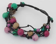 Summer Fireworks 5-Strand Acai and Chirilla Bracelet -  Winter Cool