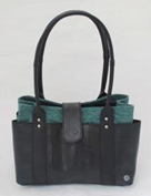 Recycled Canvas and Tire Tube Purse - Dark Green