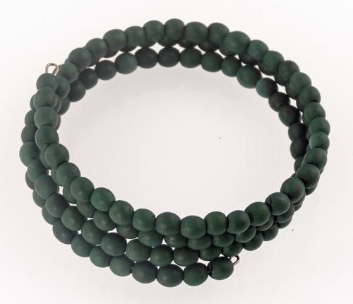 Chirilla Seed Bracelet on Memory Wire - Jade