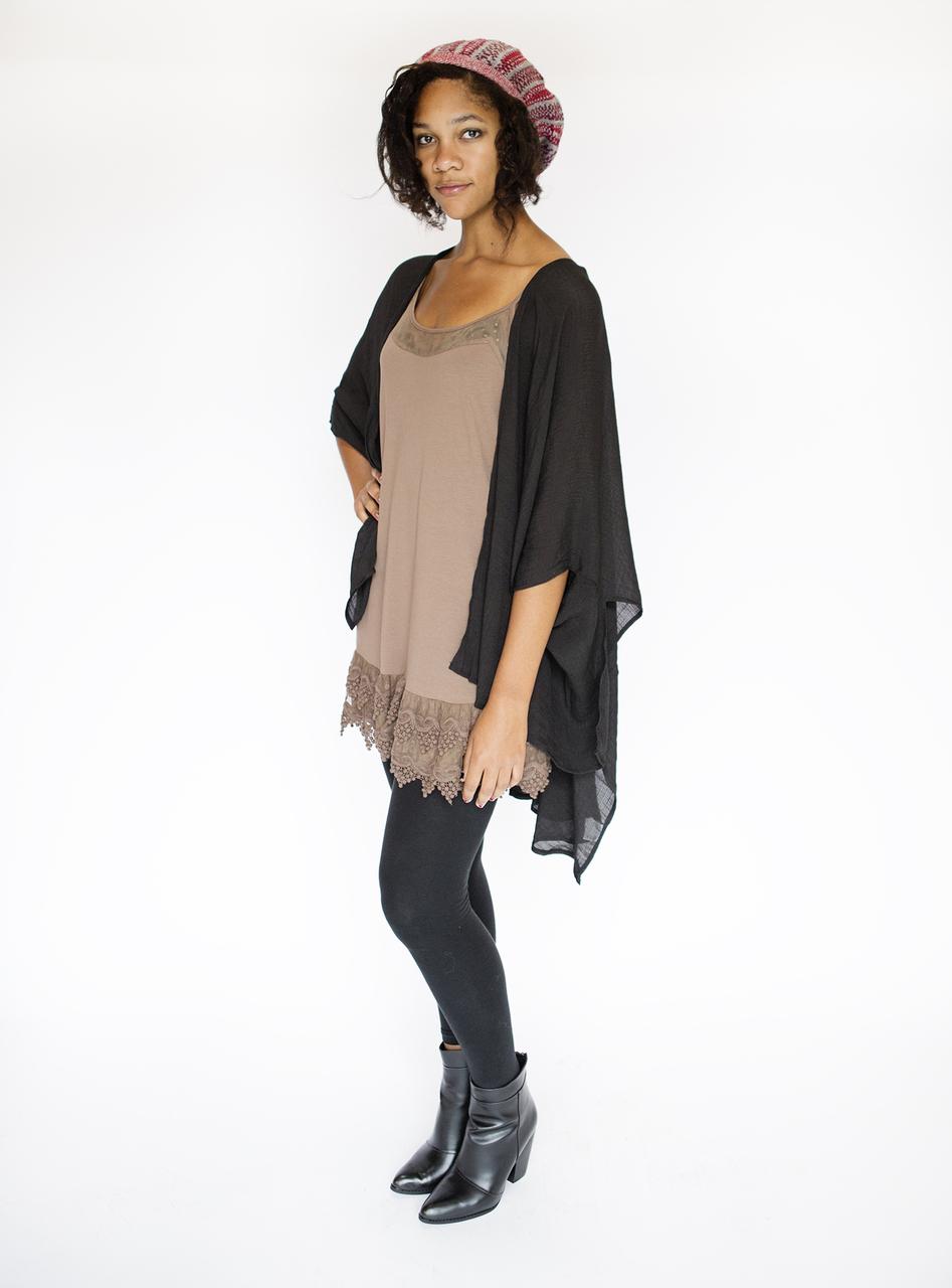 Wabi Sabi Kimono - Black