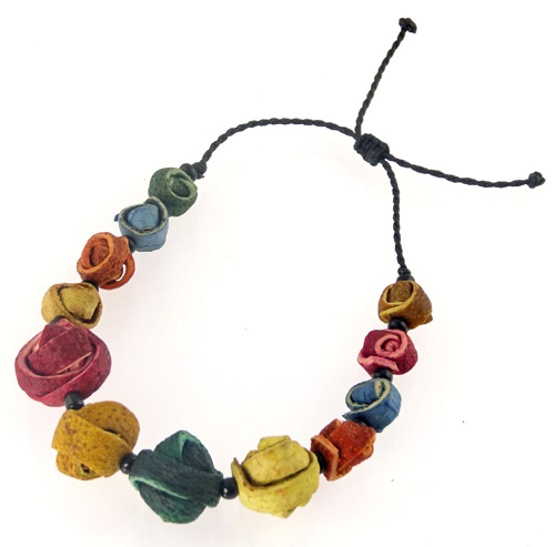 Citrus Wrapped Orange Peel Bracelet - Multi-color