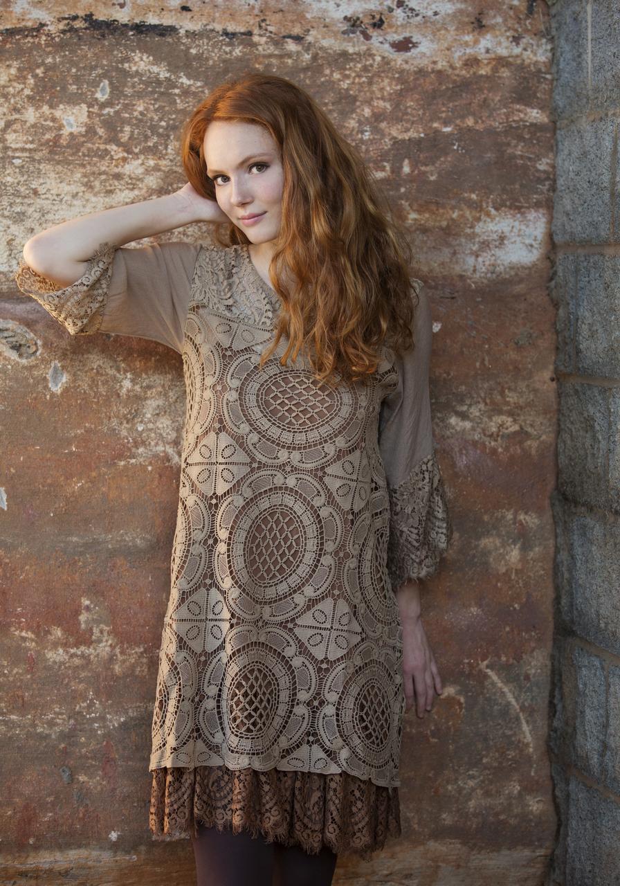 Penelope Dress - Brown
