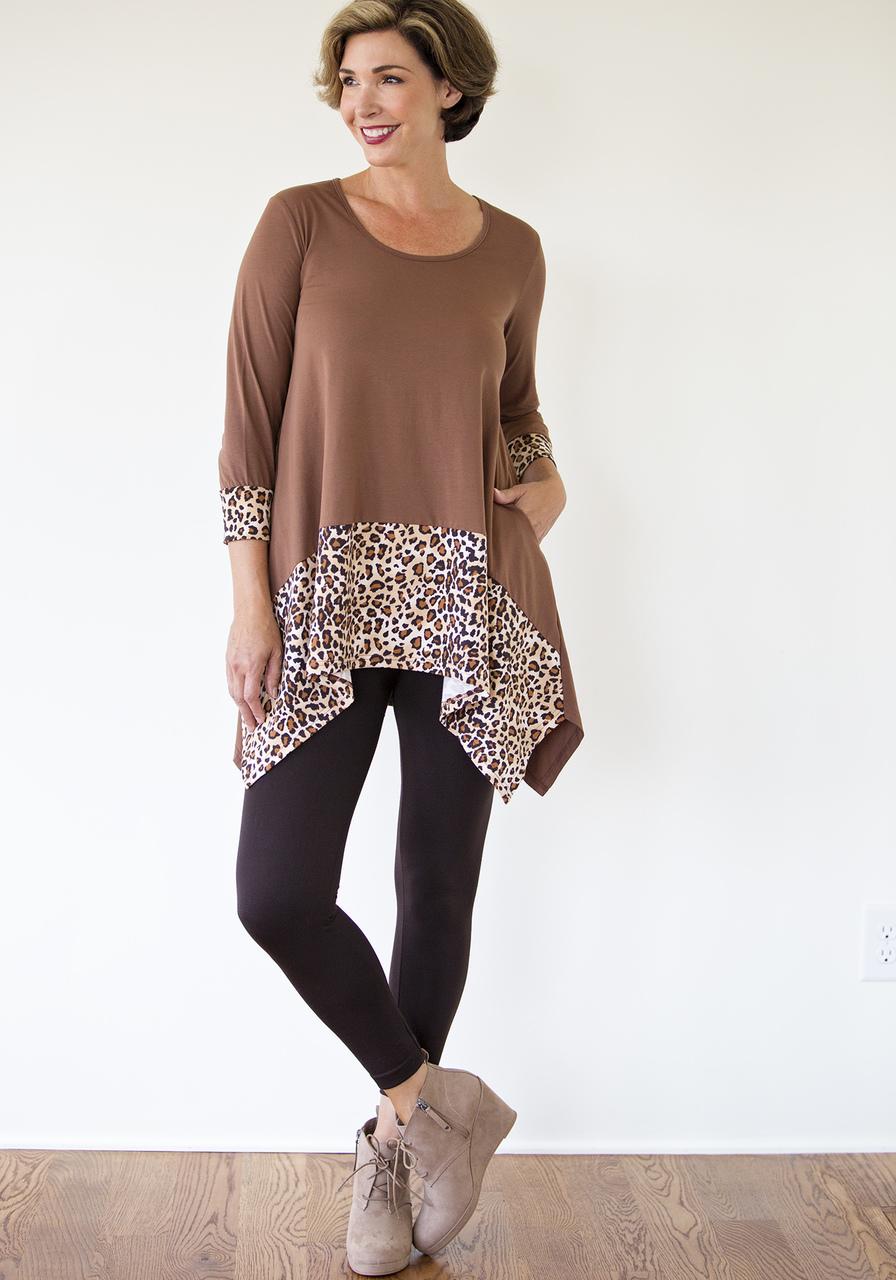 Leopard Tunic - Brown