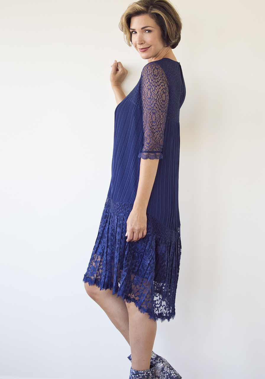 Paloma Dress - Navy