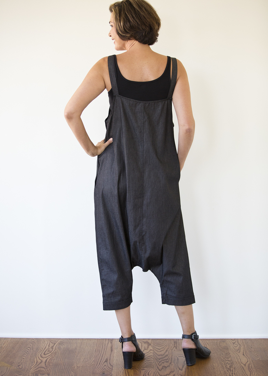 Denim Jumpsuit - Black